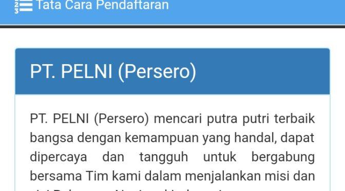 Lowongan PT. PELNI (Persero)