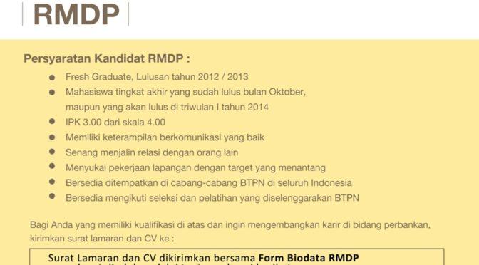 Lowongan Bank BTPN